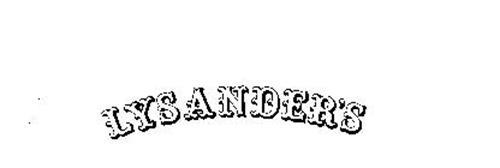 LYSANDER'S