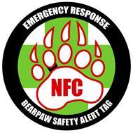 BEARPAW SAFETY ALERT TAG EMERGENCY RESPONSE NFC
