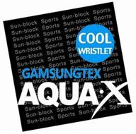 SUN-BLOCK SPORTS GAMSUNGTEX AQUA X COOL WRISTLET