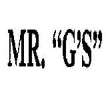 """MR. """"G'S"""""""