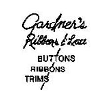 GARDNER'S RIBBONS & LACE BUTTONS RIBBONS TRIMS