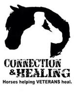 CONNECTION & HEALING HORSES HELPING VETERANS HEAL.