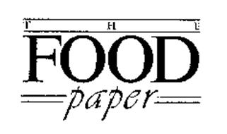THE FOOD PAPER