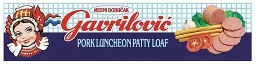 MESNI DORUCAK GAVRILOVIC PORK LUNCHEON PATTY LOAF