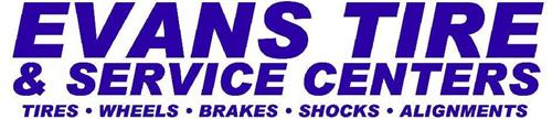 EVANS TIRE & SERVICE CENTERS TIRES · WHEELS · BRAKES · SHOCKS · ALIGNMENTS ·