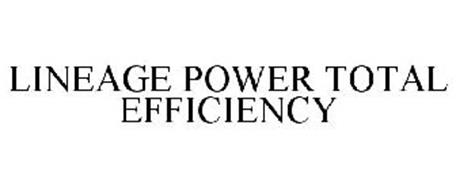 LINEAGE POWER TOTAL EFFICIENCY