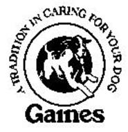 GAINES A TRADITION IN CARING FOR YOUR DOG