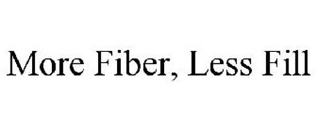 MORE FIBER, LESS FILL