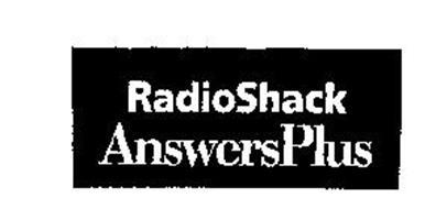 RADIOSHACK ANSWERSPLUS