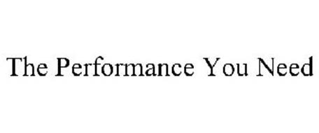 THE PERFORMANCE YOU NEED