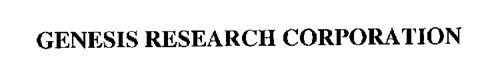 GENESIS RESEARCH CORPORATION