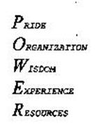 PRIDE ORGANIZATION WISDOM EXPERIENCE RESOURCES