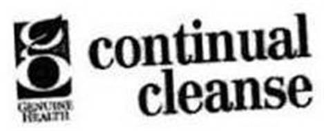 G GENUINE HEALTH CONTINUAL CLEANSE