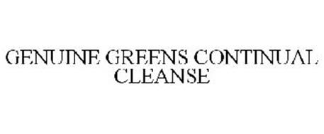 GENUINE GREENS CONTINUAL CLEANSE