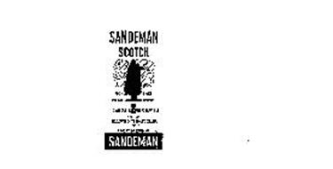 SANDEMAN SCOTCH 100% SCOTCH WHISKIES ONE QUART 86 PROOF THIS WHISKEY IS 8 YEARS OLD SHIPPED BY GEO. G. SANDEMAN SONS & CO. LTD. SCOTLAND
