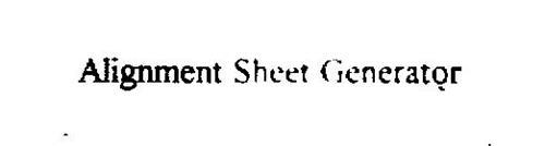 ALIGNMENT SHEET GENERATOR