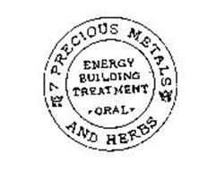 KS 7 PRECIOUS METALS KS AND HERBS ENERGY BUILDING TREATMENT ORAL
