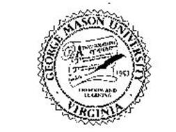 GEORGE MASON UNIVERSITY-VIRGINIA-FREEDOM AND LEARNING A DECLARATION OF RIGHTS TT 1957
