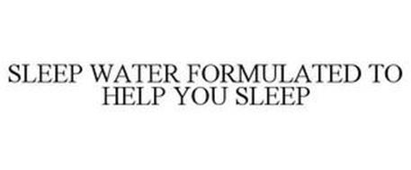 SLEEP WATER FORMULATED TO HELP YOU SLEEP