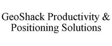 GEOSHACK PRODUCTIVITY & POSITIONING SOLUTIONS