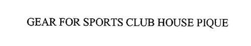 GEAR FOR SPORTS CLUB HOUSE PIQUE