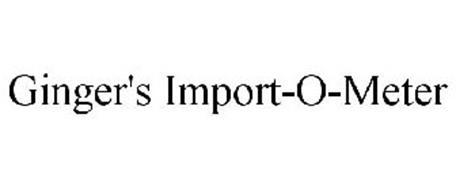 GINGER'S IMPORT-O-METER