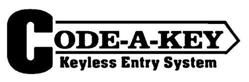 CODE-A-KEY KEYLESS ENTRY SYSTEM
