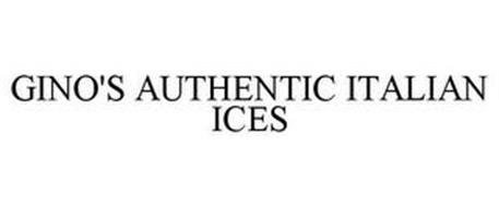GINO'S AUTHENTIC ITALIAN ICES