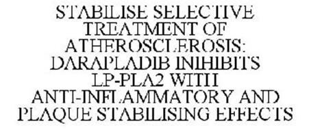 STABILISE SELECTIVE TREATMENT OF ATHEROSCLEROSIS: DARAPLADIB INIHIBITS LP-PLA2 WITH ANTI-INFLAMMATORY AND PLAQUE STABILISING EFFECTS