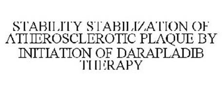 STABILITY STABILIZATION OF ATHEROSCLEROTIC PLAQUE BY INITIATION OF DARAPLADIB THERAPY