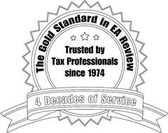 THE GOLD STANDARD IN EA REVIEW TRUSTED BY TAX PROFESSIONALS SINCE 1974 4 DECADES OF SERVICE