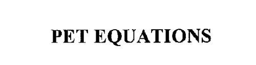 PET EQUATIONS