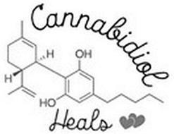 CANNABIDIOL HEALS H H OH HO