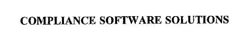 COMPLIANCE SOFTWARE SOLUTIONS