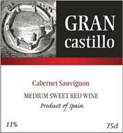 GRAN CASTILLO CABERNET SAUVIGNON MEDIUM SWEET RED WINE PRODUCT OF SPAIN 11% 75CL