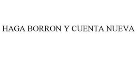 HAGA BORRON Y CUENTA NUEVA