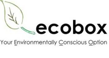 ECOBOX YOUR ENVIRONMENTALLY CONSCIOUS OPTION