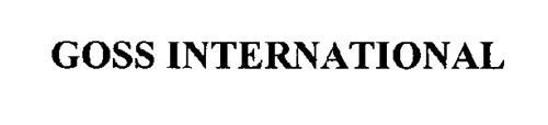 GOSS INTERNATIONAL