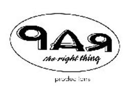 RAP THE RIGHT THING PRODUCTIONS