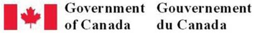 GOVERNMENT OF CANADA GOURVERNEMENT DU CANADA