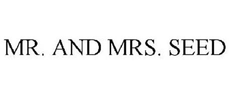 MR. AND MRS. SEED
