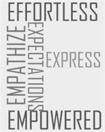 E EFFORTLESS EMPATHIZE EXPRESS EMPOWERED EXPECTATIONS