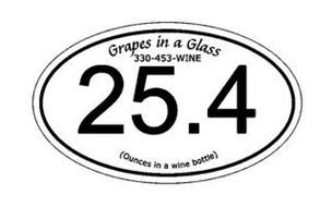 GRAPES IN A GLASS 330-453-WINE 25.4 (OUNCES IN A WINE BOTTLE)