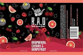 R.A.D REALLY AWESOME DRINKS! RASPBERRY, CHERRY & GRAPEFRUIT