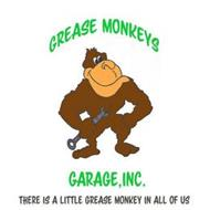 GREASE MONKEYS GARAGE, INC. THERE IS A LITTLE GREASE MONKEY IN ALL OF US