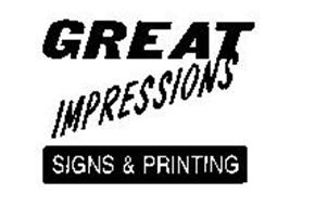 GREAT IMPRESSIONS SIGNS & PRINTING
