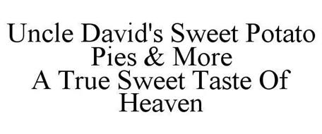 UNCLE DAVID'S SWEET POTATO PIES & MORE A TRUE SWEET TASTE OF HEAVEN