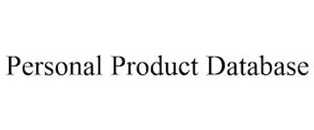 PERSONAL PRODUCT DATABASE