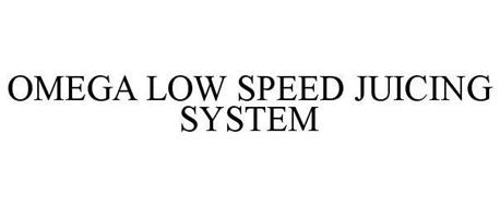 OMEGA LOW SPEED JUICING SYSTEM