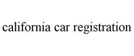 CALIFORNIA CAR REGISTRATION